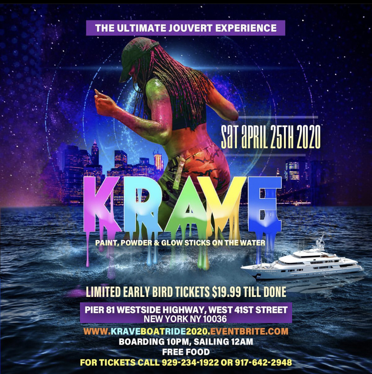 KRAVE PAINT POWDER & GLOW STICKS ON THE WATER 2020