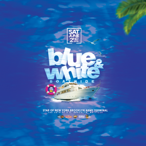 Boom Blue and white Boatride